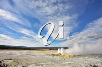 Royalty Free Photo of a Geysers in Yellowstone Park