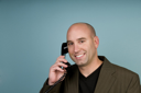 Royalty Free Photo of a Man Talking on the Phone