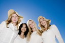 Royalty Free Photo of Four Smiling Women