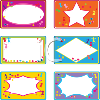 Royalty Free Clipart Image of Labels For Children