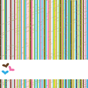 Stripes background with hearts