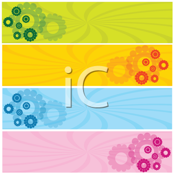Colored web banners