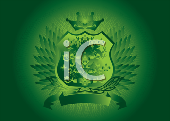 Royalty Free Clipart Image of a Badge