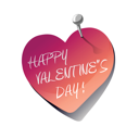 Royalty Free Clipart Image of a Happy Valentine's Day Sticky Note