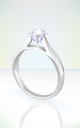 Royalty Free Clipart Image of a Diamond Ring