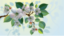 Royalty Free Clipart Image of an Apple Blossom