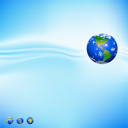 Royalty Free Clipart Image of a Background With a Globe