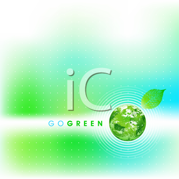 Royalty Free Clipart Image of a Go Green Background