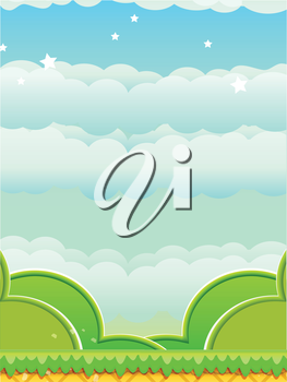 Abstract Cartoon Platform Background Mobile