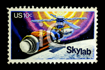 Royalty Free Photo of a Skylab Stamp