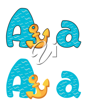 illustration of a letter A anchor