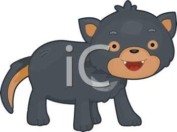 Royalty Free Clipart Image of a Tasmanian Devil