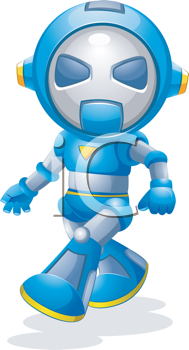 Royalty Free Clipart Image of a Walking Robot