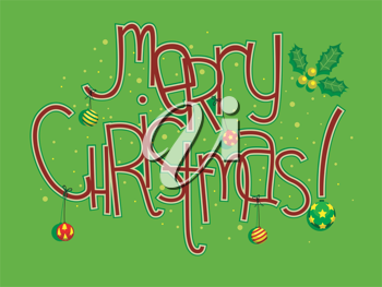 Colorful Illustration Featuring Christmas Greetings