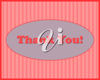 Royalty Free Clipart Image of a Thank You Note