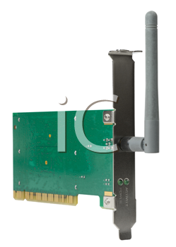 Royalty Free Photo of a Wireless Card for a Computer