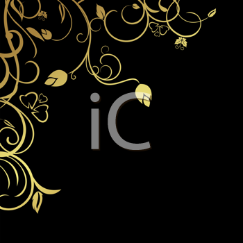 Royalty Free Clipart Image of a Decorative Floral Background
