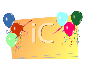 Royalty Free Clipart Image of a Birthday Invite Template