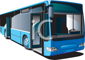 Royalty Free Clipart Image of a Public Transit Bus