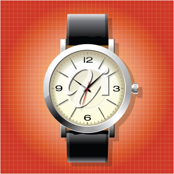 Royalty Free Clipart Image of a Man's Watch