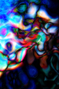 Abstract colourful background with swirl waves. Raster illustration