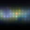 abstract background dots and colored spots of light