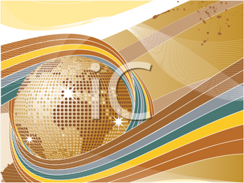 Royalty Free Clipart Image of an Abstract World Globe