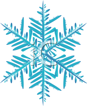 Royalty Free Clipart Image of a Detailed Snowflake