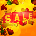 Autumn Sale Tabs with Leafs and Acorns Background