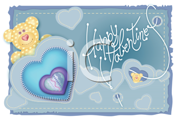 Royalty Free Clipart Image of Happy Valentines