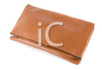 Royalty Free Photo of a Brown Leather Clutch
