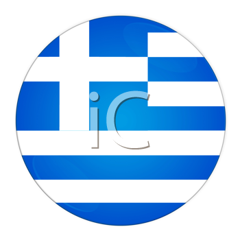 Abstract illustration: button with flag from Greece country
