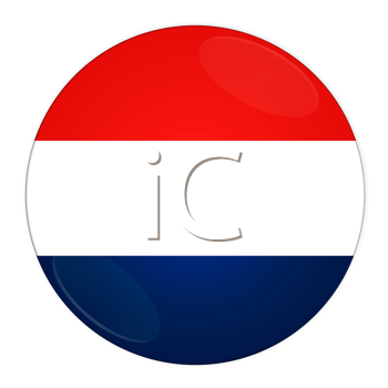 Abstract illustration: button with flag from Netherlands country