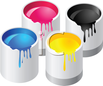 Abstract vector illustration of paint canister