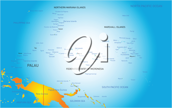Vector color map of Palau