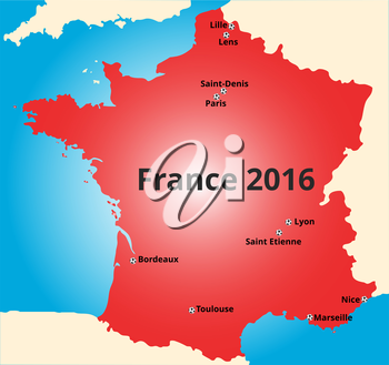 Cities of France euro 2016 championship