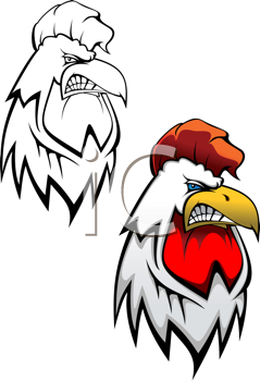 Royalty Free Clipart Image of Rooster