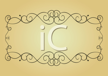 Royalty Free Clipart Image of a Vintage Frame