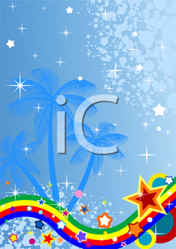 Royalty Free Clipart Image of a Tropical Background