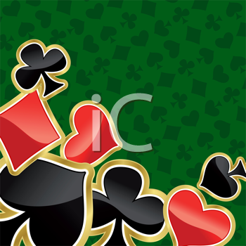 Royalty Free Clipart Image of a Card Suit Background