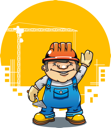 Royalty Free Clipart Image of Construction Worker
