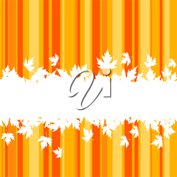 Falling leaves on colorful background for seasonal design