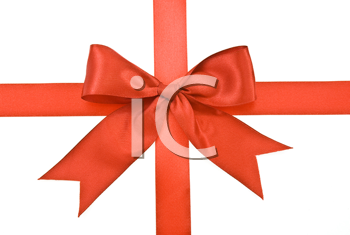 Royalty Free Photo of Red Ribbons and Bow