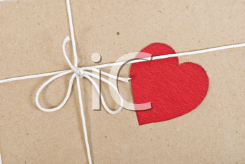 Royalty Free Photo of a Paper Package With Valentine Card