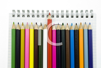 Royalty Free Photo of Colourful Pencil Crayons