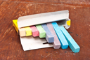 Royalty Free Photo of Chalk in a Box