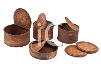 Royalty Free Photo of Rusty Cans