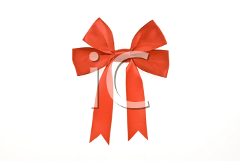 Royalty Free Photo of a Red Bow