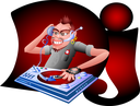 Royalty Free Clipart Image of a DJ