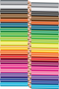 Set colored pencils on white background. Vector illustration. Office supplies.
